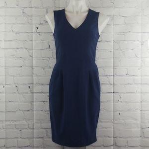 NWOT Navy blue Vince Camuto dress w/pockets size 4